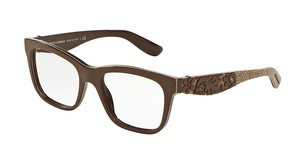 Dolce & Gabbana DG3239 3002 TOP BROWN/TEXTURE TISSUE