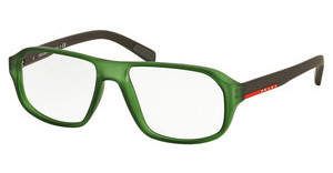 Prada Sport PS 05GV UFK1O1 TRANSPARENT GREEN RUBBER