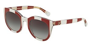 Dolce & Gabbana DG4249 30248G GREY GRADIENTSTRIPE RED/WHITE