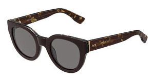 Jimmy Choo EDA/S J3P/6P BROWN FL GOLDBRW SPTTD
