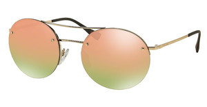Prada Sport PS 54RS ZVN5L2 GREY MIRROR ROSE GOLDPALE GOLD