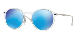 Ray-Ban RB4224 646/55 GREEN MIRROR BLUEMATTE TRANSPARENT