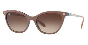 Ray-Ban RB4360 123513 BROWN GRADIENT DARK BROWNTOP LIGHT BROWN ON HAVANA BLUE