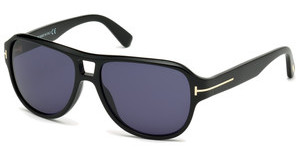 Tom Ford FT0446 01V blauschwarz glanz