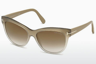 Ochelari oftalmologici Tom Ford Lily (FT0430 59G) - Fildeş, Beige, Brown