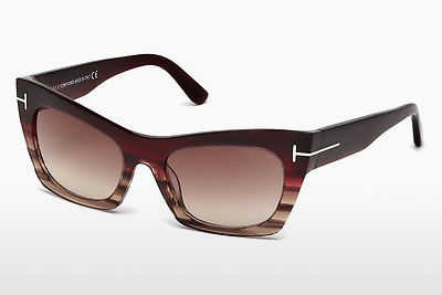 Ochelari oftalmologici Tom Ford FT0459 71F - Roşu burgund, Bordeaux