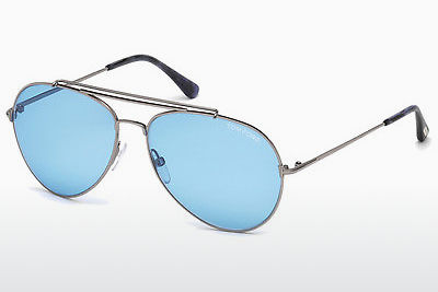Ochelari oftalmologici Tom Ford Indiana (FT0497 14V) - Gri, Shiny, Bright