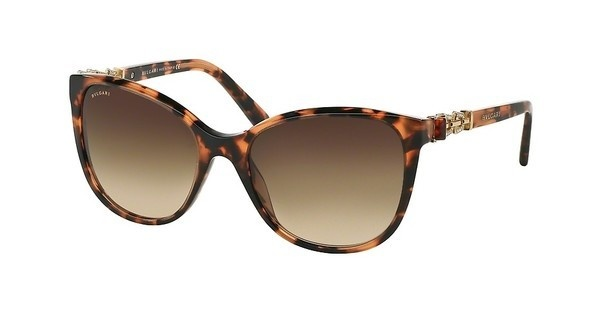 Bvlgari BV8145B 529413 BROWN GRADIENTDARK RED HAVANA