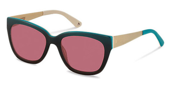 Claudia Schiffer C3009 D sun contrast - dynamic red - 80%turquoise gradient/light gold