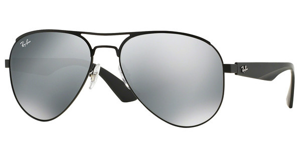 Ray-Ban RB3523 006/6G GRAY SILVER MIRRORMATTE BLACK