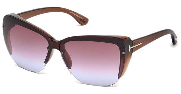 Tom Ford FT0457 48Z verspiegeltbraun dunkel glanz