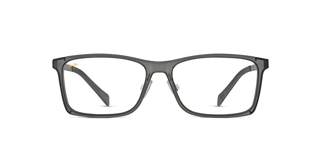 Maui Jim   MJO2407 11MW Matte Translucent Grey with Weave Pattern on Dark Gunmetal Temples