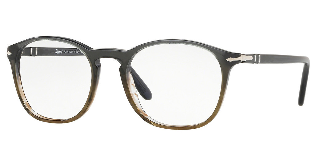 Persol   PO3007V 1012 GRADIENT GREY STRIP GREEN