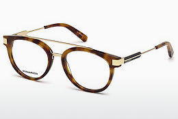 Ochelari de design Dsquared DQ5261 053 - Havana, Yellow, Blond, Brown