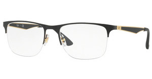 Ray-Ban RX6362 2890 GOLD/TOP SHINY BLACK