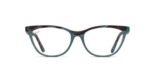 Maui Jim MJO2111 53A Matte Blue Tortoise with Ice Blue