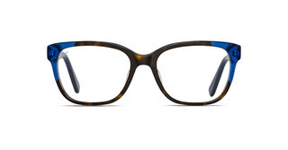 Maui Jim MJO2402 68PF Dark Tortoise with Translucent Blue with Palm Frond Core