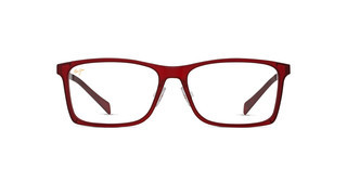 Maui Jim MJO2407 04D Matte Red with Brushed Light Gunmetal Temples