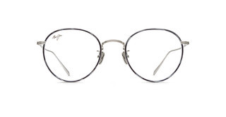 Maui Jim MJO2417 17A Brushed Silver with Grey Tortoise Eye Rim