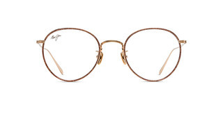 Maui Jim MJO2417 31B Gold with Brown Fabric Pattern Eye Rim