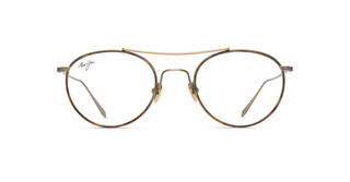 Maui Jim MJO2419 16C Antique Gold Matte with Brown Tortoise Eye Rim