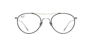 Maui Jim MJO2419 46 Antique Silver Matte with Grey Fabric Pattern Eye Rim