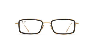 Maui Jim MJO2421 10A Shiny Gold with Dark Tortoise Acetate Rim