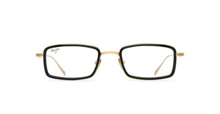Maui Jim MJO2421 16B Shiny Gold with Black Acetate Rim