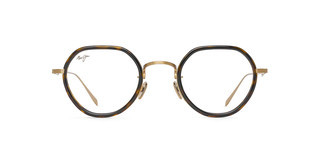 Maui Jim MJO2422 10A Shiny Gold with Dark Tortoise Acetate Rim
