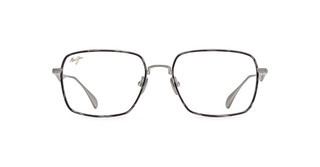 Maui Jim MJO2424 17A Titanium Brushed Silver w/ Grey Tortoise Eye Rim