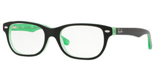 Ray-Ban Junior RY1555 3764 GREEN TRASP ON TOP BLACK