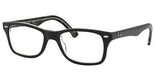 Ray-Ban RX5228 5912 TOP BLACK/DARK BROWN/YELLOW