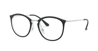 Ray-Ban RX7140 5852 TRANSPARENT ON TOP BLACK