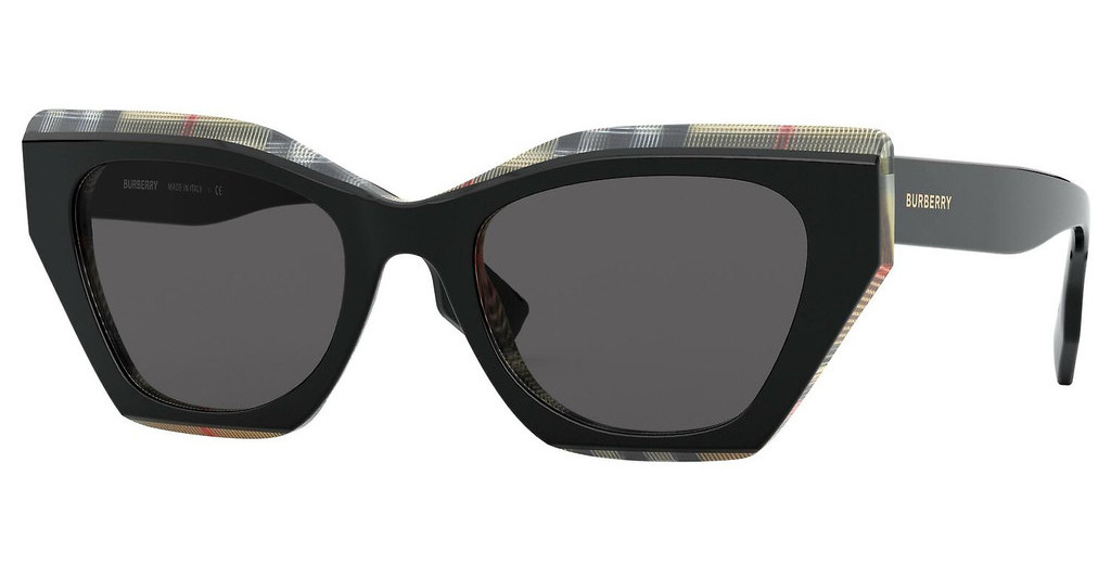 Burberry   BE4299 382887 GREYTOP BLACK ON VINTAGE CHECK
