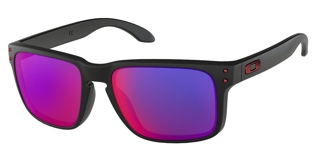 Oakley   OO9102 910236 + RED IRIDIUMMATTE BLACK