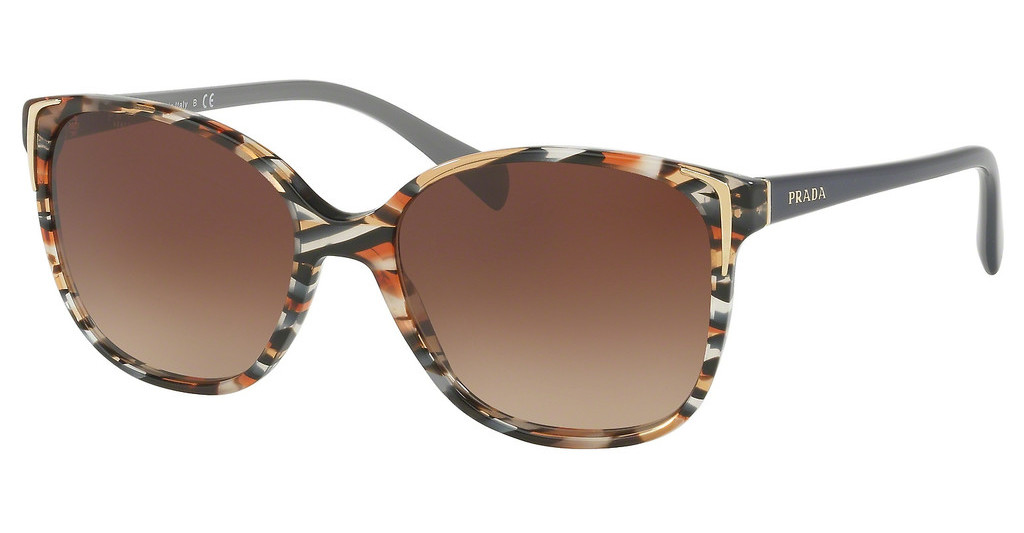 Prada   PR 01OS CO56S1 BROWN GRADIENTHAVANA/EARS AVIO BLUE