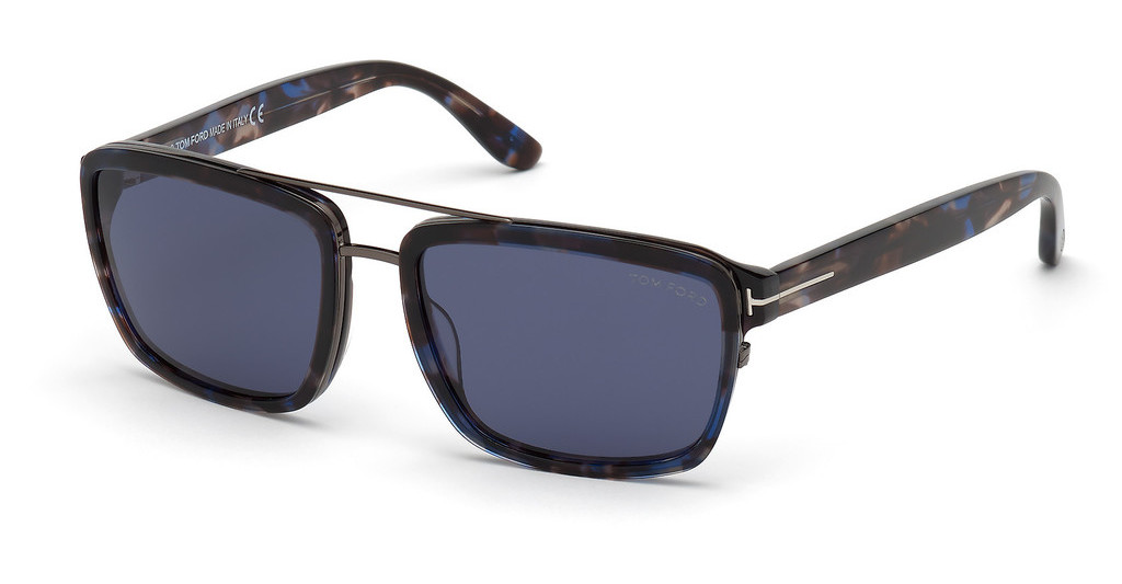 Tom Ford   FT0780 55V blauhavanna bunt