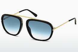 Ochelari oftalmologici Tom Ford Johnson (FT0453 01P) - Negru, Shiny