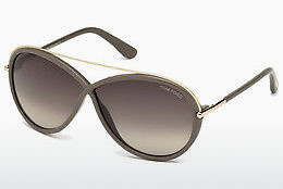 Ochelari oftalmologici Tom Ford Tamara (FT0454 59K) - Fildeş, Beige, Brown