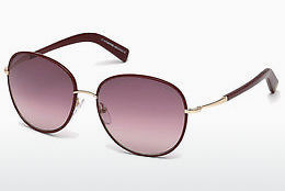 Ochelari oftalmologici Tom Ford Georgia (FT0498 69T) - Roşu burgund, Bordeaux, Shiny