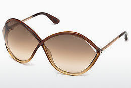 Ochelari oftalmologici Tom Ford Liora (FT0528 50F) - Maro, Dark