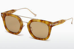 Ochelari oftalmologici Tom Ford Alex (FT0541 53E) - Havana, Yellow, Blond, Brown
