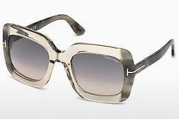 Ochelari oftalmologici Tom Ford FT0580 59B - Fildeş, Beige, Brown