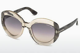 Ochelari oftalmologici Tom Ford FT0581 59B - Fildeş, Beige, Brown