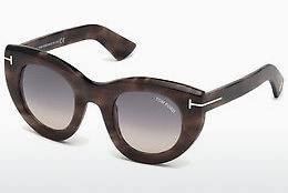 Ochelari oftalmologici Tom Ford FT0583 55B - Multicolor, Maro, Havana
