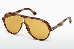 Ochelari oftalmologici Tom Ford FT0647 57E - Fildeş, Shiny