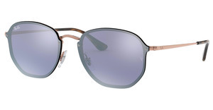 Ray-Ban RB3579N 90351U DARK VIOLET MIRROR SILVERCOPPER