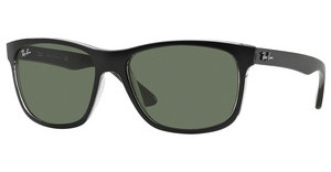 Ray-Ban RB4181 6130 GREENTOP MATTE BLACK ON TRASP GREY