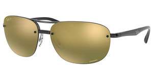 Ray-Ban RB4275CH 876/6O GREEN MIR GOLD GRADIENT POLARSHINY GREY