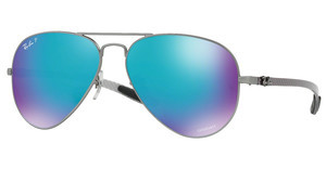 Ray-Ban RB8317CH 029/A1 GREEN MIR BLUE POLAR AVIMATTE GUNMETAL